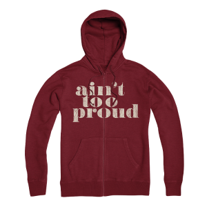 Logo Burgundy Zip Up
